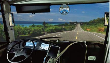 Véhicule side car mirror 2